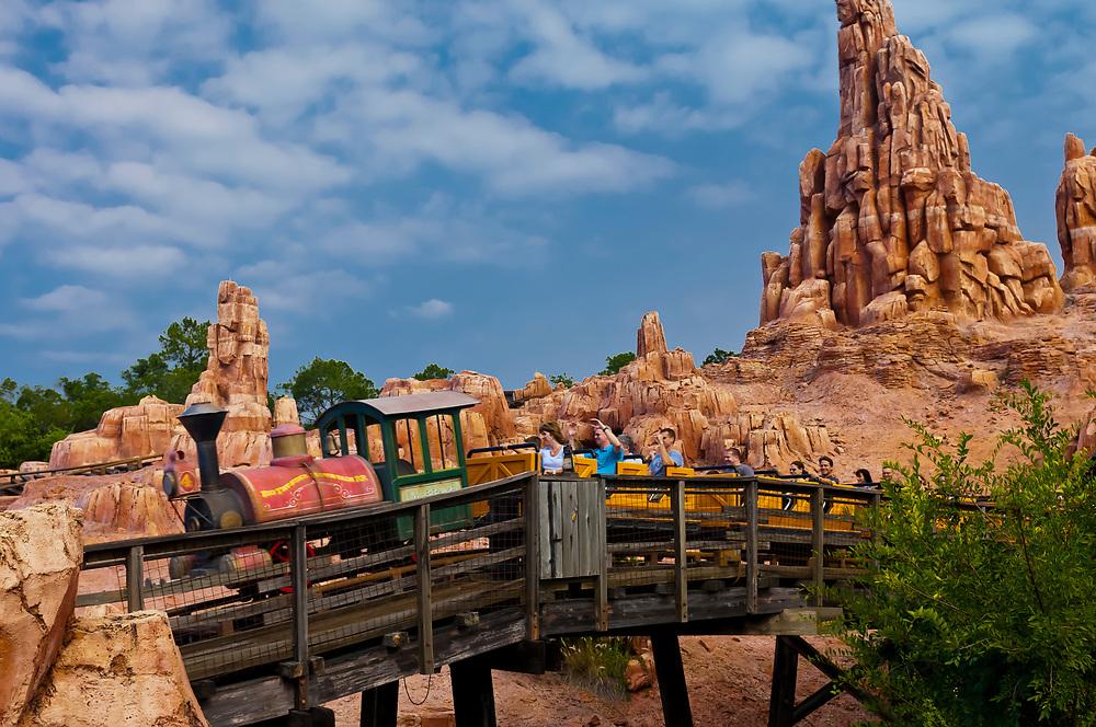 Big Thunder Mountain Railroad, Frontierland, Magic Kingdom, Walt Disney World, Orlando, Florida USA