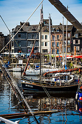 Boats in Honfleur, Normandy, France