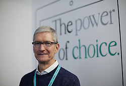 File photo dated 09/02/17 of Apple chief executive Tim Cook who has defended the company accepting billions from Google to make its search engine the iPhone default, despite its commitment to privacy.