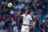 Bordeaux's forward Malcom heads the ball during the French Championship Ligue 1 football match between Paris Saint-Germain and Girondins de Bordeaux on September 30, 2017 at the Parc des Princes stadium in Paris, France - Photo Benjamin Cremel / ProSportsImages / DPPI