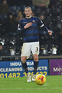 Bolton Wanderers defender Dean Moxey  during the Sky Bet Championship match between Hull City and Bolton Wanderers at the KC Stadium, Kingston upon Hull, England on 12 December 2015. Photo by Ian Lyall.
