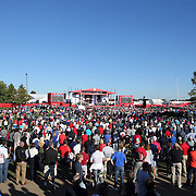 Ryder Cup 2016. Thousands of spectators watching the Ryder Cup opening ceremony at the Hazeltine National Golf Club on September 29, 2016 in Chaska, Minnesota.  (Photo by Tim Clayton/Corbis via Getty Images)