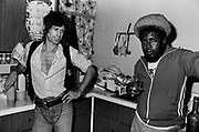Robbie Shakespear with Keith Richards during the Don't Look Back video shoot - Kingston jamaica - 1978