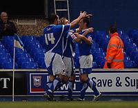Photo: Ashley Pickering.<br />Ipswich Town v Leeds United. Coca Cola Championship. 16/12/2006.<br />Ipswich's Gavin Williams (R) celebrates his opening goal