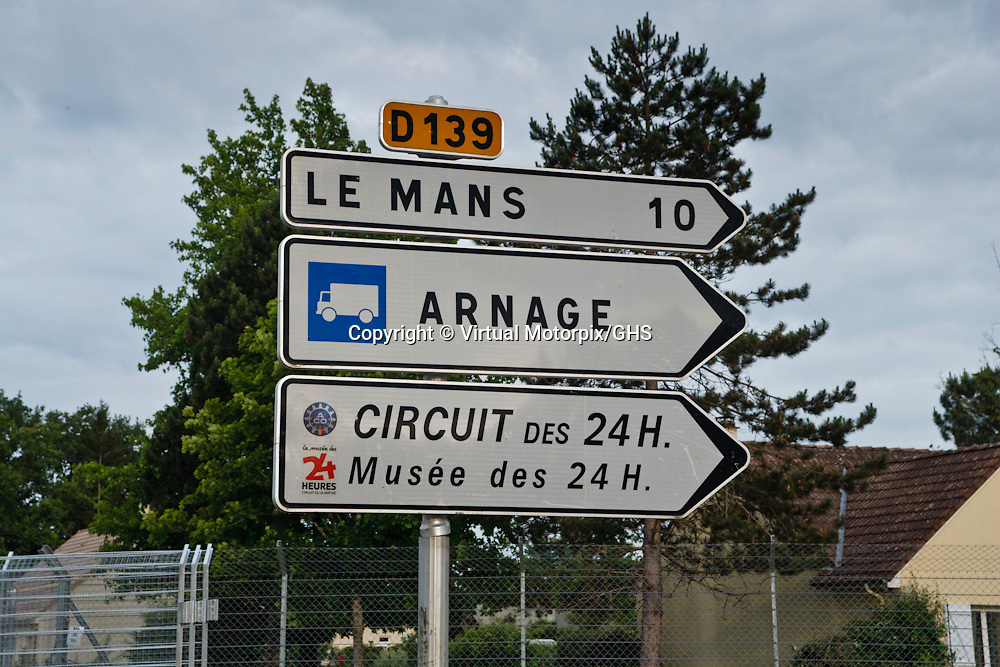 Road sign at Le Mans