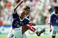 David TREZEGUET - 29.06.1998 - Paraguay / France - coupe du Monde  <br />