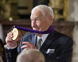 September 22, 2016 - Washington, District of Columbia, United States of America - MEL BROOKS, Actor, Comedian, & Writer of New York, New York, shows off his new 2015 National Medal of Arts after receiving it from United States President Barack Obama during a ceremony in the East Room of the White House. (Credit Image: © Ron Sachs/CNP via ZUMA Wire)