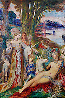 """France, Paris, Musée Gustave Moreau, 14 rue de la Rochefoucauld, """"Les Licornes"""" // France, Paris, Gustave Moreau museum, """"Les Licornes"""""""