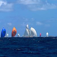 Chaque année, au mois de mars, les riches propriétaires de yachts à voile viennent participer à la Bucket Reggatta sur l'ile de St Barth. La compétition comprend trois courses (une par jour), consistant à faire le tour de l'ile. L'occasion aussi de montrer leurs navires qui sont souvent proposés à la location.