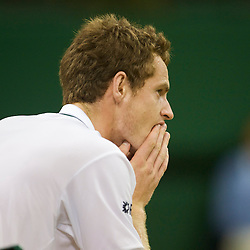 LONDON, ENGLAND - Monday, June 29, 2009: A shattered looking Andy Murray (GBR) after his Gentlemen's Singles 4th Round victory on day seven of the Wimbledon Lawn Tennis Championships at the All England Lawn Tennis and Croquet Club. (Pic by David Rawcliffe/Propaganda)