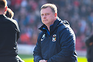 Mark Robins of Coventry City (Manager) during the EFL Sky Bet League 1 match between Barnsley and Coventry City at Oakwell, Barnsley, England on 30 March 2019.