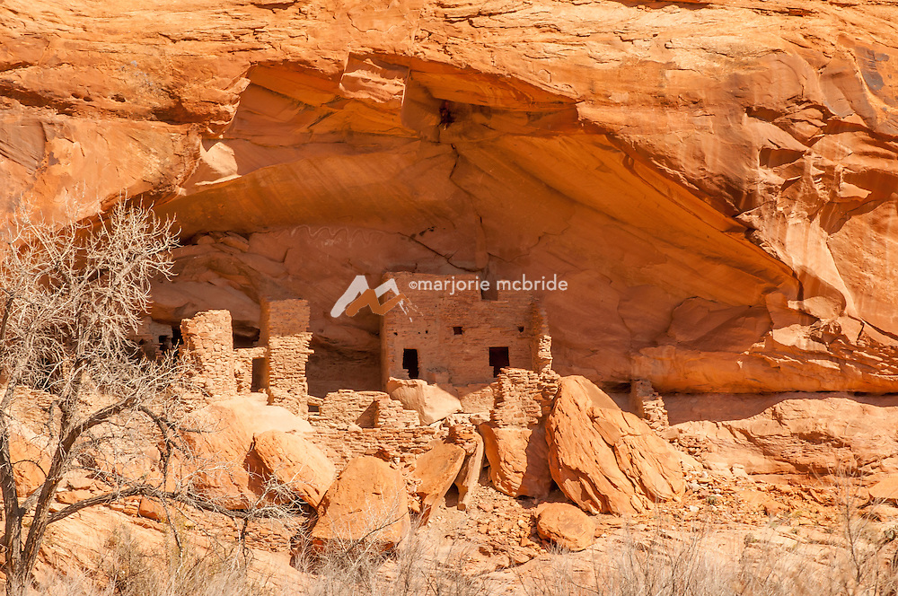 Anasazi Ruins at the River House during Family fun rafting on the San Juan River in Souther Utah.
