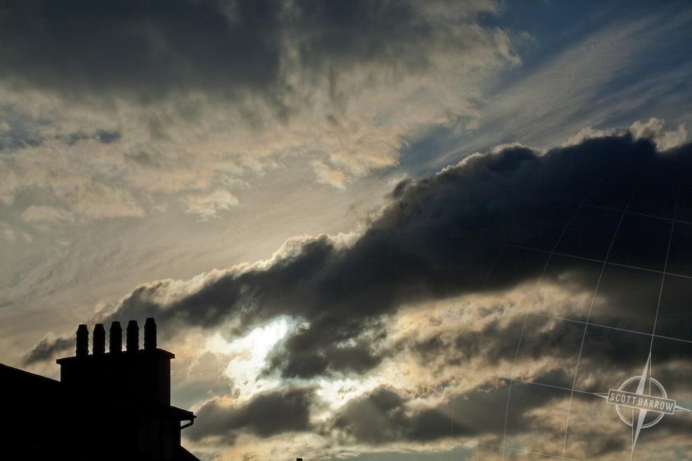 Chimney and sky inKenmare Ireland.