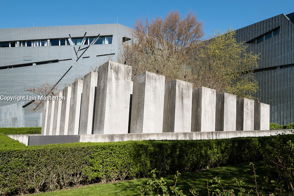 Exterior view of Garden of Exiles at Jewish Museum in Berlin Germany