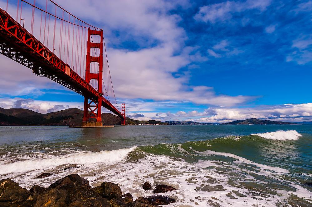 Golden Gate Bridge, San Francisco Bay, San Francisco, California USA