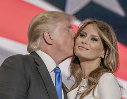 July 18, 2016 - Cleveland, Ohio, U.S - Melania Trump speaking at the Republican National Convention (Credit Image: © Mark Reinstein via ZUMA Wire)
