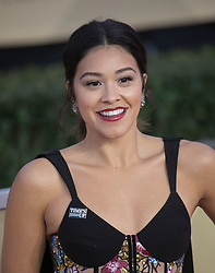 January 21, 2018 - Los Angeles, California, U.S - Gina Rodriguez at the red carpet of the 24th Annual Screen Actors Guild Awards held at the Shrine Auditorium in Los Angeles, California, Sunday January 21, 2018. (Credit Image: © Prensa Internacional via ZUMA Wire)