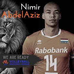 Nimir Abdelaziz of Netherlands, Photoshoot selection of Orange men's volleybal team season 2021on may 11, 2021 in Arnhem, Netherlands (Photo by RHF Agency/Ronald Hoogendoorn)