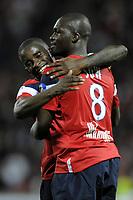 FOOTBALL - FRENCH CHAMPIONSHIP 2010/2011 - L1 - LILLE OSC v STADE RENNAIS - 29/05/2011 - PHOTO JEAN MARIE HERVIO / DPPI - JOY RIO MAVUBA / MOUSSA SOW