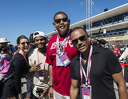 October 22, 2017 - Austin, Texas, U.S - From Left to Right actors KING BACH, OMAR BENSON MILLER & HILL HARPER out on the grid at COTA. (Credit Image: © Hoss Mcbain via ZUMA Wire)