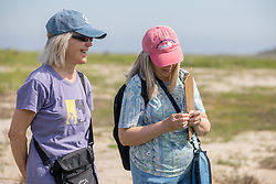 Mary, Diane Reynolds On Horseshoe Crab Survey