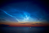 Noctilucent Clouds over the Gulf of Finland. Image taken with a Fuji XT1 camera and 23 mm f/1.4 lens (ISO 200, 23 mm, f/1.4, 1 sec).