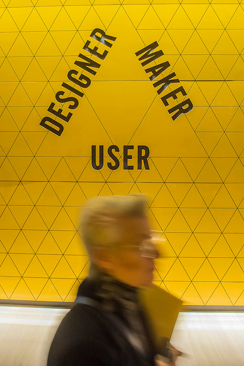 The Designer, User Maker area - The Design Museum has moved to Kensington High Street from its former home as an established London landmark on the banks of the river Thames.  The new museum will be devoted to contemporary design and architecture, an international showcase for the many design skills at which Britain excels and a creative centre, promoting innovation and nurturing the next generation of design talent. His Royal Highness toured the museum to view the transformation of a modernist building from the 1960s, which was the former Commonwealth Institute.  17  November 2016, London.