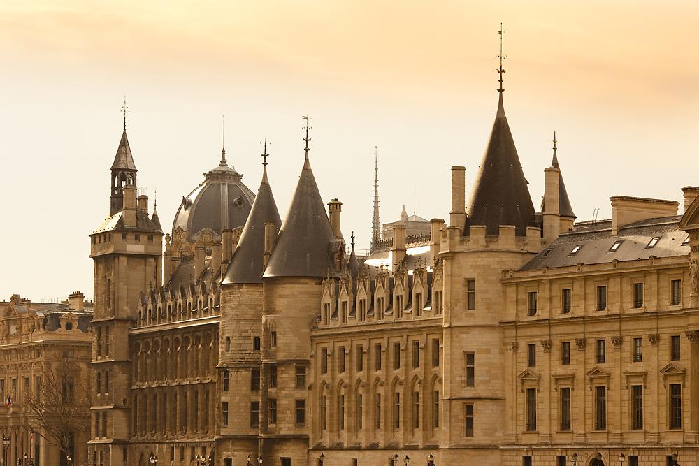 Paris, France - The Conciergerie at Palais de Justice at Ile de la Cite