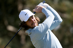 Tommy Fleetwood tees off during day four of the Betfred British Masters at Hillside Golf Club, Southport.