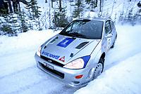 Ål 180103 - Rally NM åpning i Hallingdal - Walter Chr. Jensen / Walter Jensen og kartleser Erik Pedersen fra heholdsvis Oslog og Asker og Bærum ble nummer 3.<br /> Foto: Andreas Fadum, Digitalsport