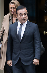 © Licensed to London News Pictures. 14/10/2016. London, UK. Nissan Chairman and CEO Carlos Ghosn leaves Number 10 Downing Street after holding talks with Prime Minister Theresa May. Mr Ghosn has stated that he would like a government pledge to  compensate Nissan for any tariffs that may be imposed after the UK leaves the EU. Photo credit: Peter Macdiarmid/LNP