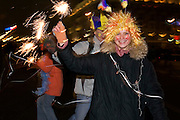 Moscow, Russia, 31/12/2005..Russians celebrate the lengthy New Year and Orthodox Christmas holidays. Greeting the New Year in Red Square and other parts of central Moscow.