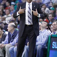 01 April 2012: Boston Celtics head coach Doc Rivers reacts during the Boston Celtics 91-72 victory over the Miami Heat at the TD Banknorth Garden, Boston, Massachusetts, USA. NOTE TO USER: User expressly acknowledges and agrees that, by downloading and or using this photograph, User is consenting to the terms and conditions of the Getty Images License Agreement. Mandatory Credit: 2012 NBAE (Photo by Chris Elise/NBAE via Getty Images)