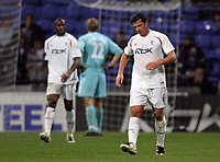 Photo: Paul Thomas.<br /> Bolton Wanderers v Braga. UEFA Cup. 25/10/2007.<br /> <br /> Dejected Gary Speed (6) of Bolton as Braga score to level.
