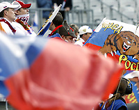 GEPA-1806085902 - INNSBRUCK,AUSTRIA,18.JUN.08 - FUSSBALL - UEFA Europameisterschaft, EURO 2008, Russland vs Schweden, RUS vs SWE. Bild zeigt Russland-Fans. Keyword: Fahne, Flagge. <br />Foto: GEPA pictures/ Oskar Hoeher