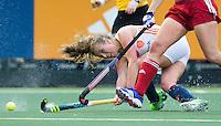 AMSTERDAM - Hockey - Xan de Waard (Neth)  Interland tussen de vrouwen van Nederland en Groot-Brittannië, in de Rabo Super Serie 2016 .  COPYRIGHT KOEN SUYK