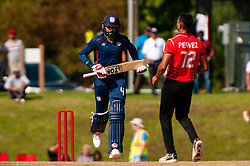 September 22, 2018 - Morrisville, North Carolina, US - Sept. 22, 2018 - Morrisville N.C., USA - Team USA JASKARAN MALHA (4) scores a run during the ICC World T20 America's ''A'' Qualifier cricket match between USA and Canada. Both teams played to a 140/8 tie with Canada winning the Super Over for the overall win. In addition to USA and Canada, the ICC World T20 America's ''A'' Qualifier also features Belize and Panama in the six-day tournament that ends Sept. 26. (Credit Image: © Timothy L. Hale/ZUMA Wire)