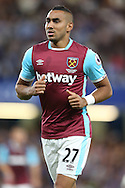 Dimitri Payet of West Ham United looks on. Premier league match, Chelsea v West Ham United at Stamford Bridge in London on Monday 15th August 2016.<br /> pic by John Patrick Fletcher, Andrew Orchard sports photography.