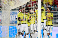 Colombia's players celebrate goal during international friendly match. June 7,2017.(ALTERPHOTOS/Acero)