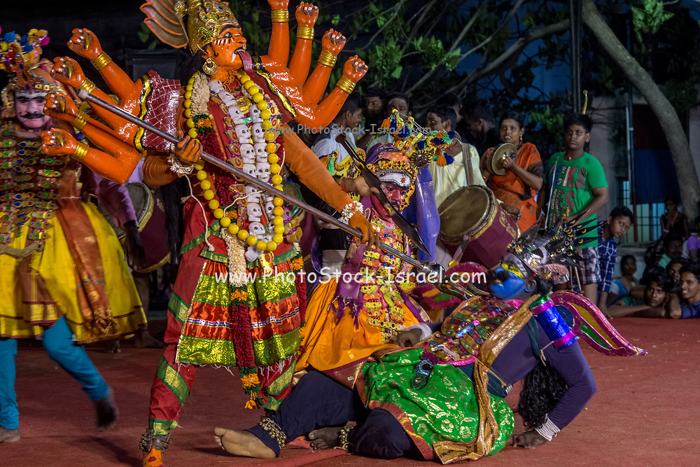 Indian Ethnic theatrical performance during an ethnic festival in Jerusalem, Israel