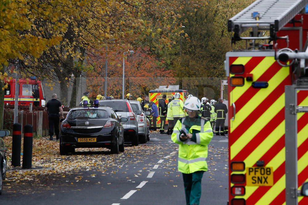 Licenced to London News Pictures. 2.11.2010 Explosion at house on Merlin Road, Manchester. 11 people injured.