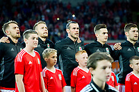 Football - 2017 / 2018 _Wales v Austria_FIFA World Cup Qualifier 2018<br /> <br /> -Gareth Bale of Wales sings the anthem-- at Cardiff City Stadium.<br /> <br /> COLORSPORT/WINSTON BYNORTH