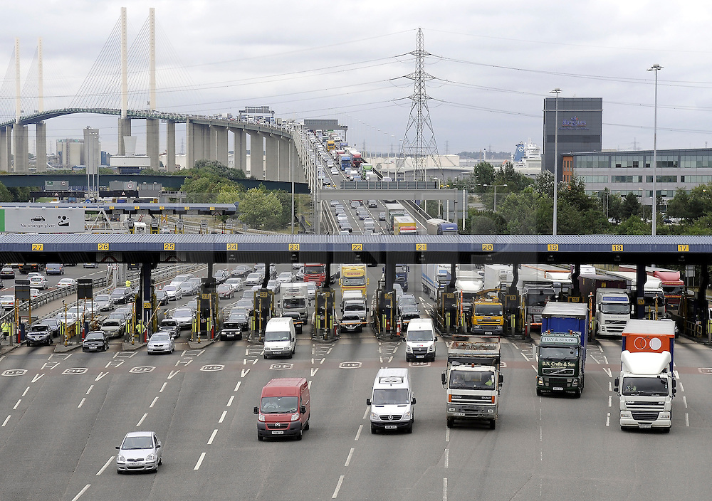 © under license to London News Pictures.  23.11.2010,Traffic jams at Dartford tolls have stopped investment in the local area says Local MP Gareth Johnson,The conservative MP has secured a parliamentary debate on the issue. The department of transport want to remove the Dartford Tolls by 2012.Traffic jams on the Kent side of the Dartford river crossing with Queen Elizabeth 2nd Bridge . Picture credit should read Grant Falvey/London News Pictures