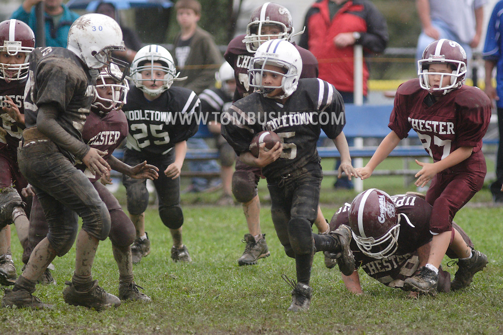Middletown, NY - Middletown plays Chester in a Division 1 Orange County Youth Football League game at  on Sept. 28, 2008.