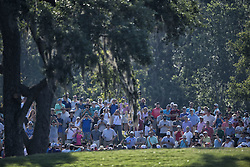 May 11, 2018 - Ponte Vedra Beach, FL, USA - The Players Championship 2018 at TPC Sawgrass..Around the 12th greeen.   ItÃ•s easy to tell where Phil Mickelson and Tiger Woods are.  The galleries travel with them. (Credit Image: © Bill Frakes via ZUMA Wire)