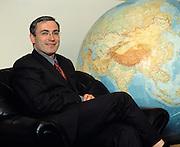 Moscow, Russia, 21/05/2002..Mikhail Khodorkovsky, CEO & Chairman of the giant Yukos oil company, at the Yukos headquarters.