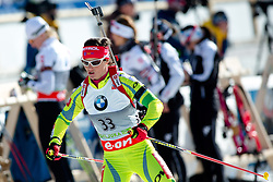 MALI Andreja of Slovenia during Women 7.5 km Sprint of the e.on IBU Biathlon World Cup on Thursday, March 6, 2014 in Pokljuka, Slovenia. The first e.on IBU World Cup stage is taking place in Rudno polje - Pokljuka, Slovenia until Sunday March 9, 2014. Photo by Matic Klansek Velej / Sportida