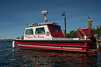 Gilford Fire Rescue Boat docked at Glendale Marine on Lake Winnipesaukee.  (Karen Bobotas/for the Laconia Daily Sun)