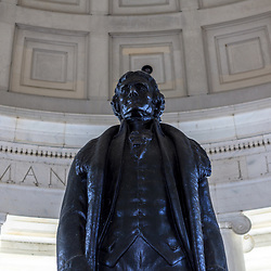 Washington, DC, USA - April 11, 2013: Washington, DC, USA - April 11, 2013: President Thomas Jefferson's Statue at the Jefferson Memorial in Washington DC.