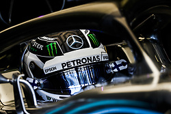 April 27, 2018 - Baku, Azerbaijan - BOTTAS Valtteri (fin), Mercedes AMG F1 Petronas GP W09 Hybrid EQ Power+, action during the 2018 Formula One World Championship, Grand Prix of Europe in Azerbaijan from April 26 to 29 in Baku - Photo  /  Motorsports: World Championship; 2018; Grand Prix Azerbaijan, Grand Prix of Europe, Formula 1 2018 Azerbaijan Grand Prix, (Credit Image: © Hoch Zwei via ZUMA Wire)